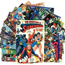Adventures of Superman 16 Comic Book Lot DC Wonder Woman Flash Lobo Batman - $39.55