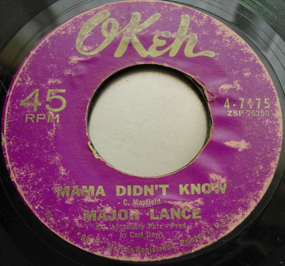 Major Lance - Monkey Time / Mama Didn't Know - Okeh Records 4-7175