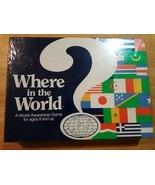 Aristoplay Where in the World Awareness Board Game Vintage Geography Dat... - $29.69