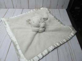H Carter's White Lamb Holding Plush Lovey Satin Trim Security Blanket - $28.70