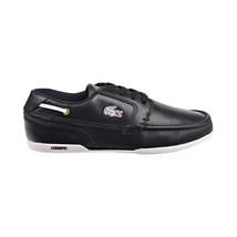 Lacoste dreyfus AP SPM Leather Men's Boat Shoes Black-Gold-White 7-21SPM... - $94.95