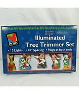 Disney 10 Light Mickey Pluto Donald Goofy Christmas Tree Santa's Best 19... - $49.49