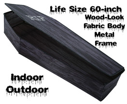 Life Size POP-UP INSTANT COFFIN PROP w-LID Haunted House Cemetery Decora... - $49.47