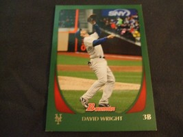 2011 Bowman Green #114 David Wright #'d 308/450 -New York Mets- - $3.12