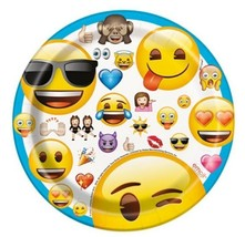 "Emoji 8 7"" Paper Dessert Cake Plates Birthday Party - $2.84"