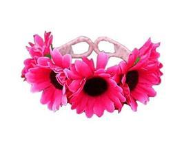 1 Pair Of Rose Red Daisy Beach Bracelets Lace Bracelets Jewelry