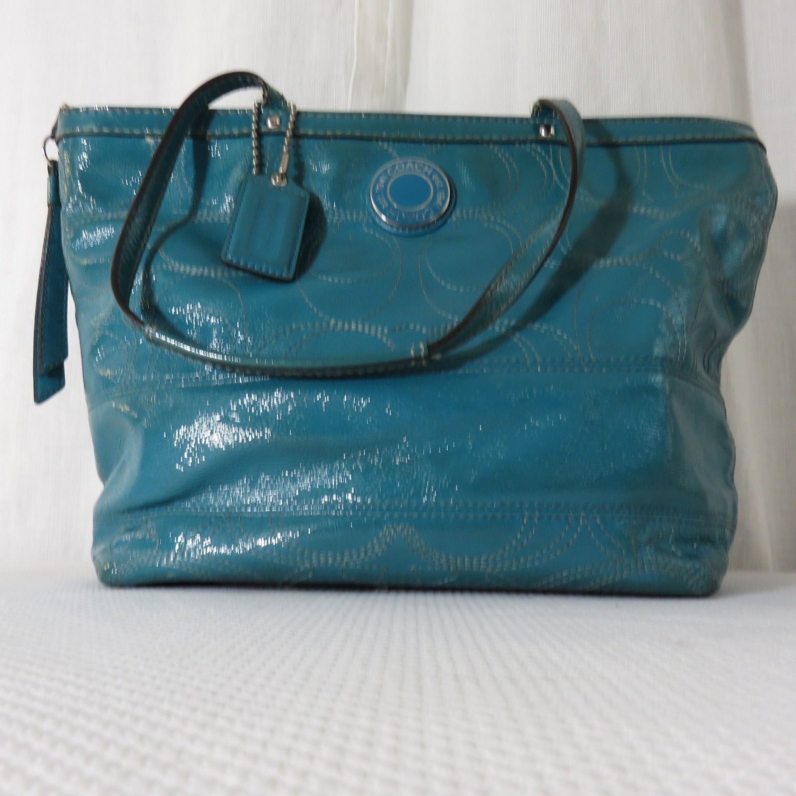e6340c490ddf1 Signature C Coach Patent Leather Tote Bag and 49 similar items. S l1600