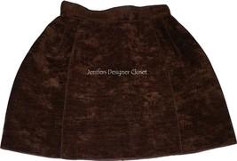 NWT DOLCE & GABBANA D & G 40 mini skirt brown wool cotton designer runwa... - $193.99