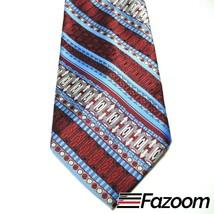 Sears The Men's Store Blue Art Deco Stripes Wide Vintage Polyester Necktie - $29.69
