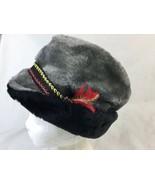 VTG Union USA Made Black Faux Fur Bavarian Alpine German Oktoberfest Hat... - $14.01
