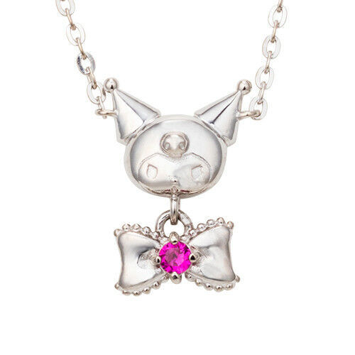 Primary image for My Melody Sanrio White Clover Chromi Silver Necklace Pendant Kawaii