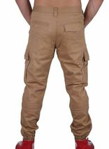 Staple Cachi Cargo Joggers Pantaloni Jeans 1509B2905 Nwt image 4
