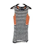 THML Navy Blue, White, Orange & Cream Striped Size Small Sheath Dress Women - $24.75