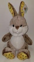 NWT Goffa Brown Bunny Rabbit Plush Stuffed Animal Toy Easter Basket White Yellow - $22.72