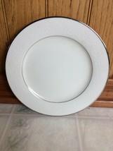 """Noritake Marseille salad/dessert plates 8 1/4"""" White on White Fleur de Lis - $13.51"""