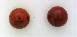 Breccia Jasper Gemstone 6mm Stud Earrings 3 - $9.02