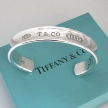 """7.75"""" Extra Large Mens Unisex Tiffany & Co Silver 1837 Wide Cuff Bracelet - $375.00"""