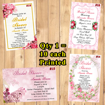 Bridal Shower Invitations Personalized 10 ea with Env Custom Made Printed - $12.50