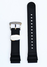 Original SEIKO Diver 22mm SRP773 / SRP775 Black Rubber Watch Band Strap ... - $44.95