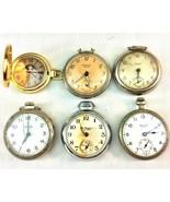Antique Pocket Watches Lot of 6 Westclox Ingersoll St Regis Bulls Eye Wa... - $69.29