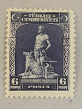1929 Blacksmith and Gray Wolf Turkey Postage Stamp Catalog Number 679 MNH