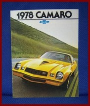 1978 Chevrolet CAMARO Only Color Sales Brochure - MINT Original New Old Stock - $10.00