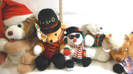 5 pc Rudolph Co. FAO Schwarz+Russ+Fiesta Bear Stuffed Animal Assortment ... - $27.81