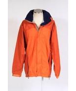 Vtg PATAGONIA Orange Soft Shell Windbreaker Jacket Camp Trail HIke Hood ... - $34.64