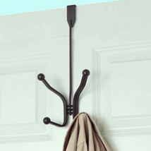 Home Basics Over The Door Four Hook Rack Bronze Coated Steel - $11.99