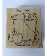 Stampin Up Rubber Stamp Bucket of Apples Give Thanks Fall Autumn Card Ma... - $3.99