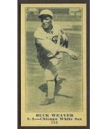 BUCK WEAVER Card RP #188 Weil Baking Black Sox 1916 M101 Free Shipping - $2.75