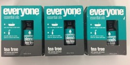 (New) Everyone Aromatherapy Blends Essential Oil Tea Tree .45 oz Lot of 3 - $19.79