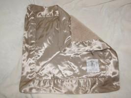 Little Giraffe Baby Security Blanket Mini Blankie Tan Beige Brown Caramel Satin - $39.59