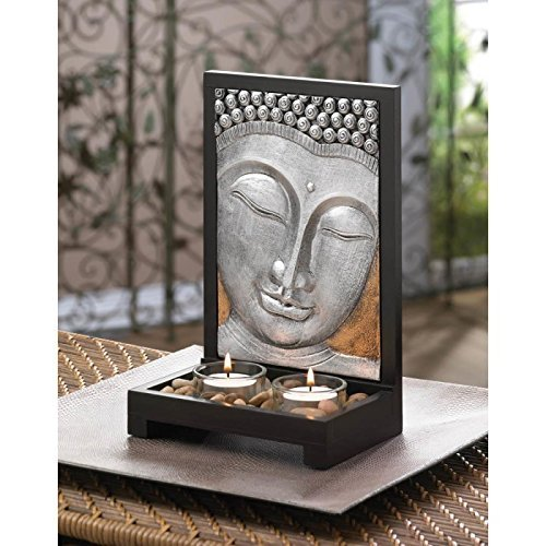 Candles BUDDHA PLAQUE CANDLE DECOR Peace Tranquil Tealight Light Gift Budda R...
