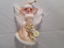 Ivory Velvet Christmas Angel Fairy Doll Hanging Ornament by American Silkflower image 2