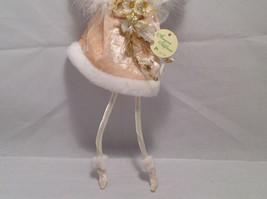 Ivory Velvet Christmas Angel Fairy Doll Hanging Ornament by American Silkflower image 4