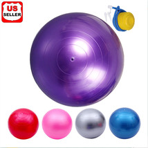 "22"" Purple Exercise Yoga Ball with Pump,Pilates & Balance Training,Anti-burst&Sl - $19.98"
