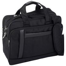 """Maxam Black Nylon Expandable 16"""" Briefcase / Computer Bag Satchel Flie Bag  - $34.89"""