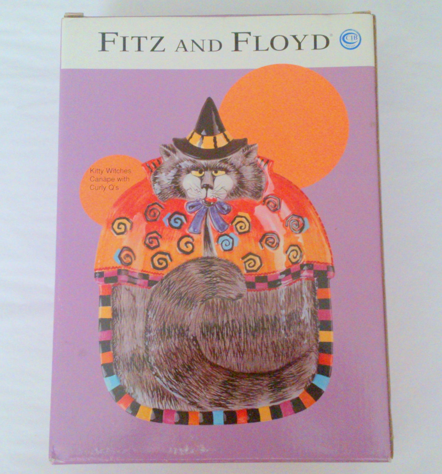 Nib fitz floyd halloween kitty witches canape plate for Fitz and floyd canape plate