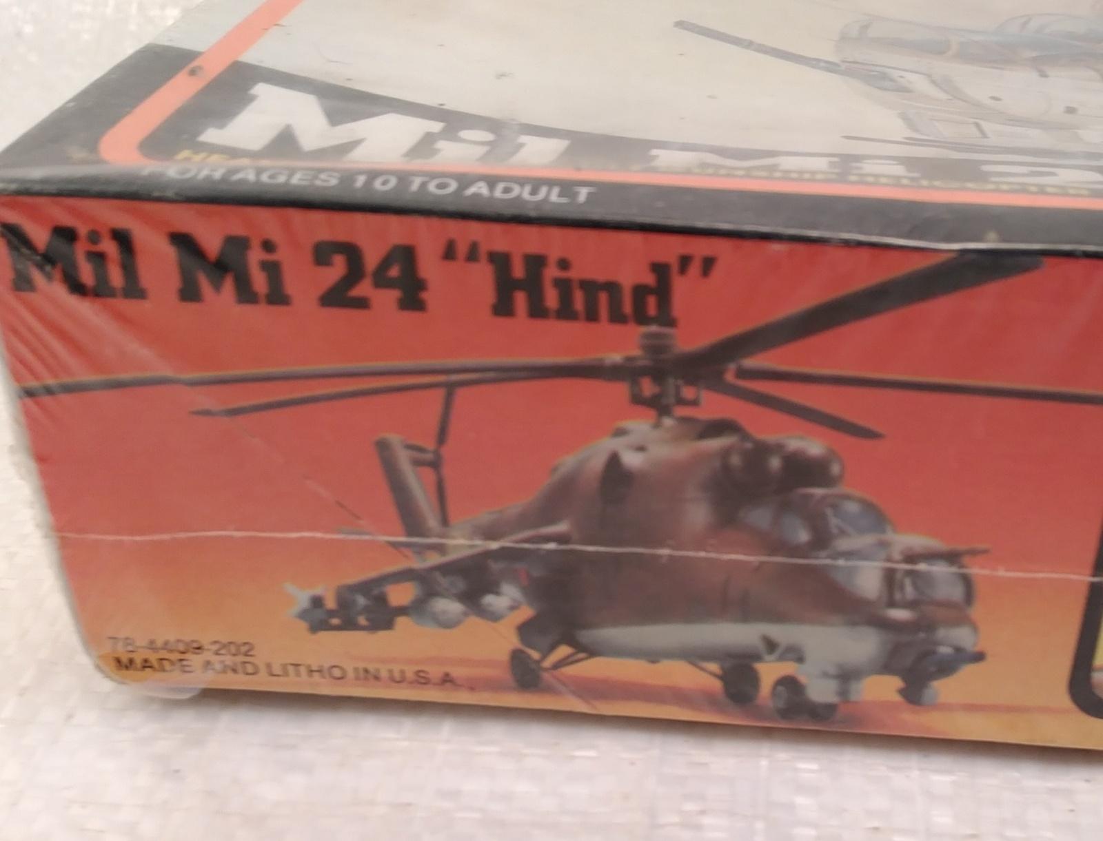 """MPC Mil Mi 24 """"Hind"""" Heavy Soviet Assault Gunship Helicopter Model Kit  NIB"""