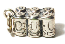 Six-Pack Pop Soda Cola Beer Cans 3D .925 Sterling Silver Charm Sixpack 2.7 GRAMS image 3