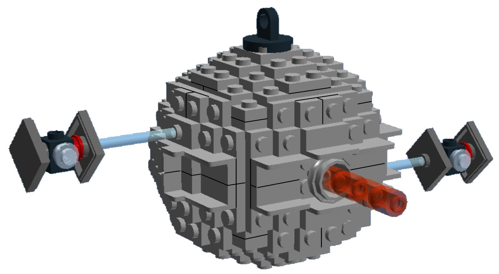 BrickCrafts Build-Your-Own LEGO® Starkiller Base Ornament (Death Star III)