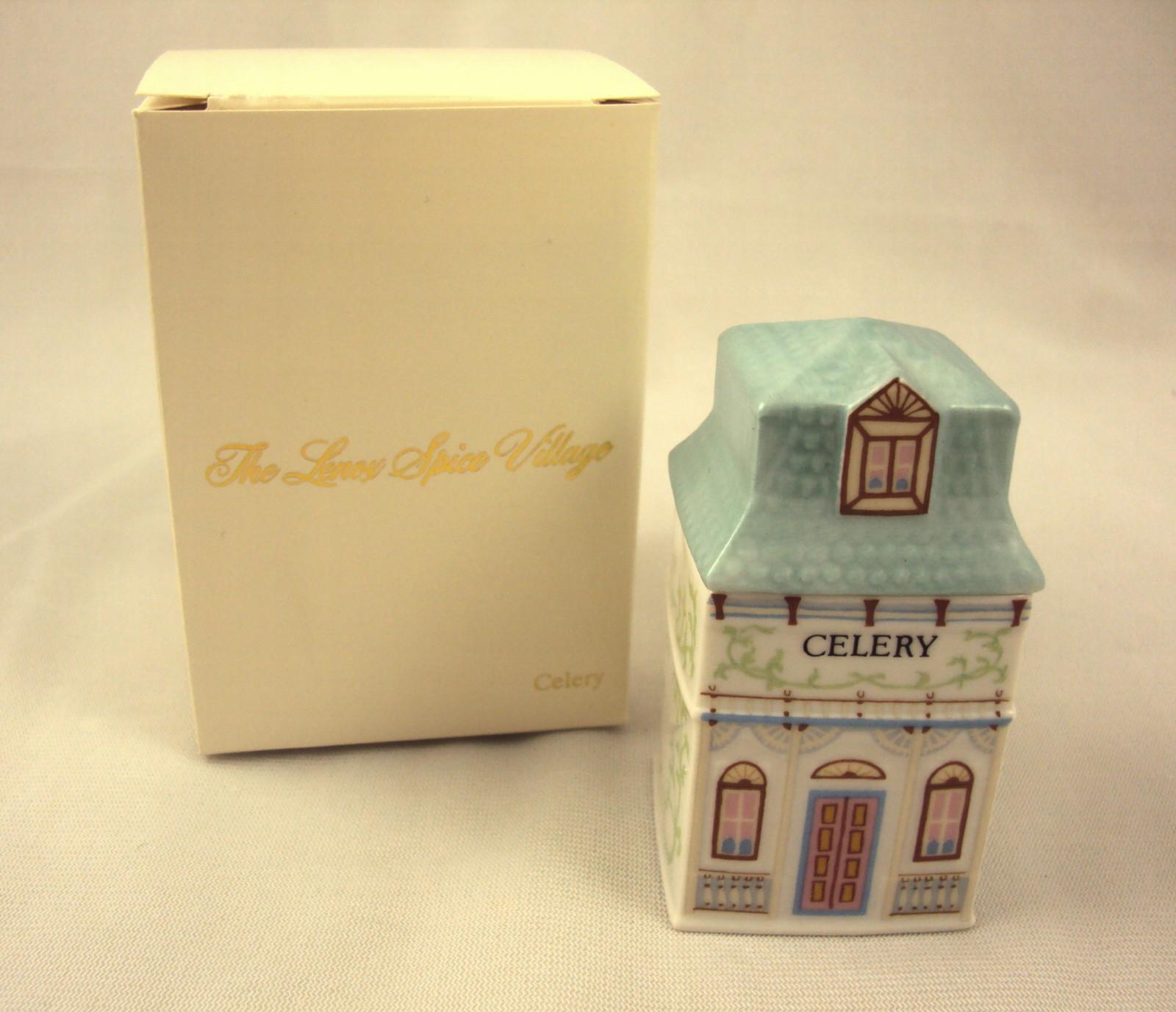 Lenox Spice Village Celery Spice Jar 1989 Vintage Victorian NIB Free Shipping - $19.95