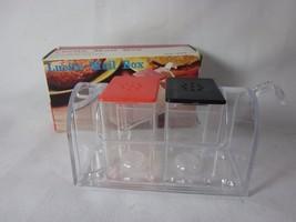 Vintage Lucite Mail Box Salt & Pepper with Toothpick Holder Set New - £5.63 GBP