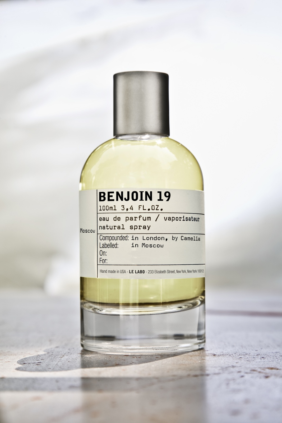 BENJOIN 19 by LE LABO 5ml Travel Spray B19 CEDAR BENZOIN MUSK RUSSIA Perfume