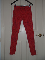 Joe's Jeans Size 26 Skinny Ankle In Neon Pink Orange Snake Tie Dye - $37.04