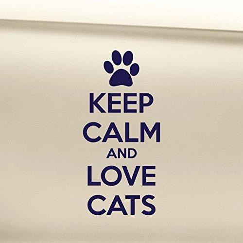 Keep Calm And Love Cats Vinyl Decal Laptop Car Truck Bumper Window Sticker Exterior
