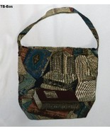 "Large 16"" x 14"" Book Theme Tapestry Cloth Tote Bag - $12.99"