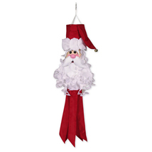 Santa Windsock, 3D Santa, Santa Outdoor Decoration - $34.99