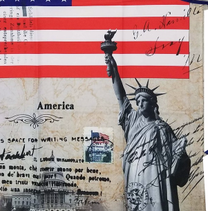 American Flag kitchen Apron, Pride Patriotic, Statue of Liberty Apron BBQ Apron